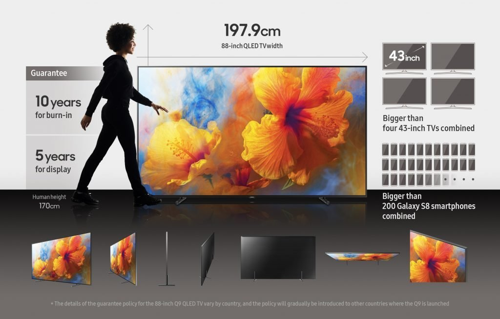 how big is a 43 inch tv