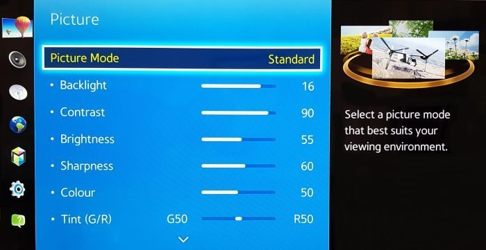 Best Picture Settings for Samsung Led TV 32 inch - OIC