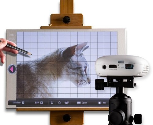 digital art projector