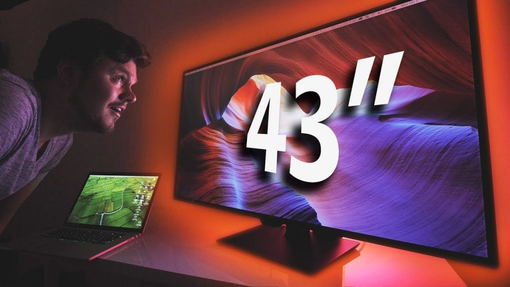how wide is a 43 inch flat screen tv